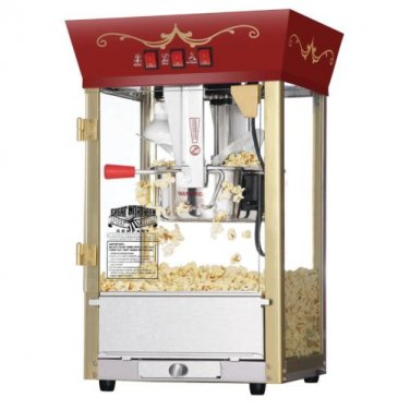Great Northern Red Antique Popcorn Popper Machine 8 Oz 6091 Matinee Movie New