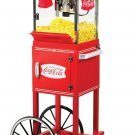 "Nostalgia Electrics 48"" Old Fashioned Movie Time Popcorn Cart CCP399COKE NEW"