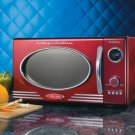 Nostalgia Electrics Retro Series 0.9-Cubic Foot Microwave Oven, Red RMO400RED