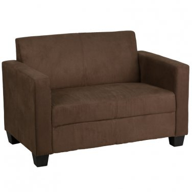 Grand Series Chocolate Brown Microfiber Loveseat New!