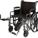 "Roscoe Bariatric Wheelchair Elevating Legrests 24""x18"" 400 lb K72418DHREL"