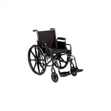 "Roscoe Medical K3-Lite Lightweight Wheelchair Swingaway Footrest 20"" W x 16"" D"