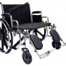 "Roscoe Extra Wide Bariatric Wheelchair Elevating Legrests 26""x20"" Heavy Duty"