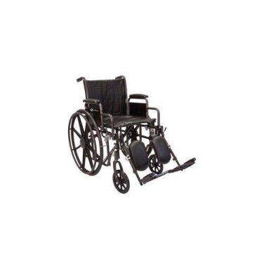 "Roscoe Medical K2-Lite Bariatric Wheelchair Elevating Legrest 18"" W x 16"" D"