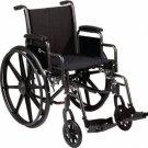 "Roscoe Folding Wheelchair Swingaway Footrests 18""x16"" K3 Lite ....K31816DHRSA"