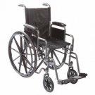 """Roscoe K12016DHRSA K1 Lightweight Wheelchair 20"""" DK ARM"""