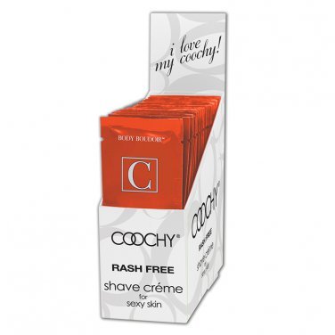 Coochy, Rash Free Shave Crème, Tropical Tease, 15ml, Foil Packs, RETAIL DISPLAY (24 Count)