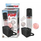 Travel Pump Three Speed Kit With Four Cockrings, Two Sleeves & Carrying Case (Clear)