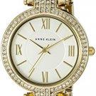 Anne Klein Women's AK/2462SVGB Swarovski Crystal Accented Gold-Tone Mesh Bracelet Watch