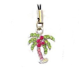 CELL PHONE CHARM COLORFUL EXOTIC PALM TREE New
