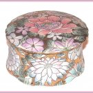 Vintage Toyo Ladies Powder Jar Trinket Box Faux Cloisonne