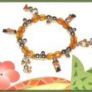 CHARM BRACELET COOL ORANGE FLIP FLOPS & BIKINI CHARMS New