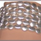 BRACELET SILVER FAUX PEARLS Multi STRANDS LIGHTWEIGHT New