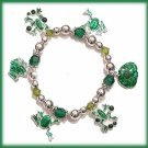 GREEN FROG FROGGIES & PONDS CASUAL CHARM BRACELET CASUAL FUN!