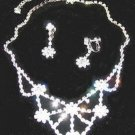 WEDDING NECKLACE EARRING SET AUSTRIAN CRYSTALS New