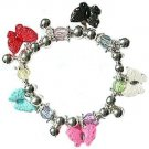 CHARM BRACELET Chunky Plump BUTTERFLIES STRETCH New
