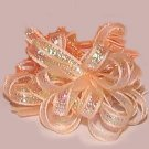 Box of 36 Peach Iridescent Organza Ribbon Bows Gift Favors New
