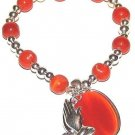 CHRISTIAN FAITH PRAYING HANDS EMBLEM BRACELET Red Charm