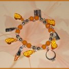 Charm Bracelet Shopping Orange Ring Lipstick Credit Card Shoe New