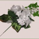 LADIES or GIRLS WEDDING or PARTY CORSAGE WHITE ROSES