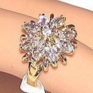 Wedding Engagement Bouquet Yellow Gold Plate Ring Size 6