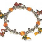 Charm Bracelet with Vintage-look Green, Orange, Yellow Farm Equipment New
