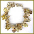VICTORIAN BUTTERFLY BRACELET CRYSTALS CHARMS TEARDROPS New