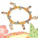 BIKINI FLIP FLOP CHARM BRACELET SUNSHINE YELLOW ORANGE New