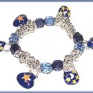 CELESTIAL CHARM BRACELET BLUE MOON & STARS PURSES New