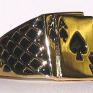 MENS BLACKJACK RING ACE SPADES POKER Size 11.5