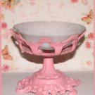 Shabby Cottage Deep Pink HP Soap Dish or Candy or Candle