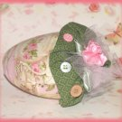Strawberry Shape French Lavender Scented Sachet Mini Pillow Shabby Pink Rose Hand made