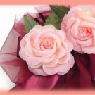 "34 Pink Silk Roses 3"" Favor Wedding or Party Decor New"