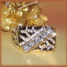 HIP HOP ICED Elegant BLING Nugget Ring YGP Size 13 New