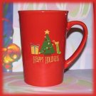 Merry Christmas Tree Cup Mug Red, Happy Holidays Gifts New
