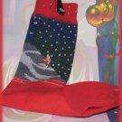 Christmas 1991 Red & Blue Socks Bunny rabbit Snow Skiing Size 9-11 NWT