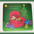 Christmas MousePad Xmas Mouse Sleeping by Tree New