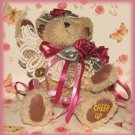"""Shabby Custom Decorated Boyds Teddy Bear Girl """"Cheer Up"""" Retired"""