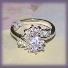 Ladies Light Amethyst Cubic Zirconium Fashion Dinner Ring Size 6 New