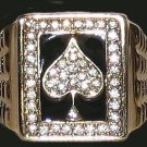 Mens ACE SPADES ICED HIP HOP GEP RING THUG Size 12