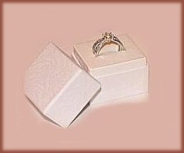 Lot of 6 Mini White Ring Boxes 2 in tall, 1.75 in wide, 1.5 in deep New