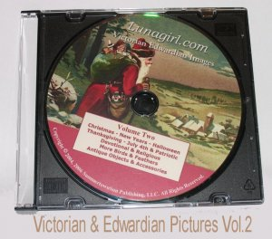 Collection of Victorian & Edwardian Images CD for your craft projects Vol.2