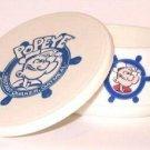 Quaker Oats™ Cereal Bowl w/Lid Popeye™ Olive Oyl™ 1990