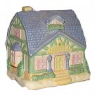 Soft Pastels Ceramic Country Cottage Home House Figurine New