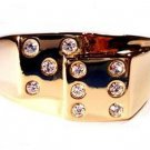 Casino Dice Gambler Ring Size 13 Gold Plt. New