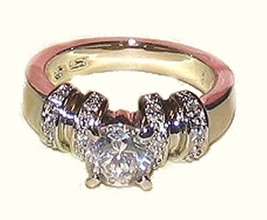 Ladies Sparkling Clear Cubic Zirconium Solitaire Fashion Dinner Ring Size 6 New
