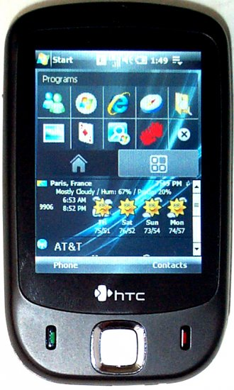New Unlocked HTC Touch GSM EDGE WiFi GPS PC Smart Phone