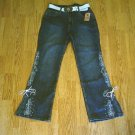 ARIZONA STRETCH JEANS EMBROIDER JEANS-14-27 x 28.5-NWT