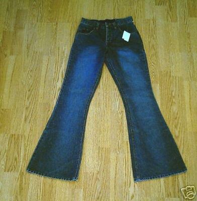 MUDD FADED LEG FLARE JEANS-0-25 X 32-NWT