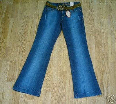 ARIZONA LOW RISE DISTRESSED JEANS-3-29 x 33.5-NWT NEW